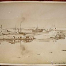 Fotografía antigua: OLD PHOTO ALBUMEN - PORT SAID IS A NORTHEASTERN EGYPTIAN CITY NEAR THE SUEZ CANAL - MIDE 28,5 X 22 . Lote 38249912