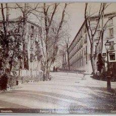 Fotografía antigua: ANTIGUA FOTOGRAFIA ALBUMINA DE GARZON. GRANADA NUM. 145, PASEOS Y HOTELES DE LA ALHAMBRA - MIDE 25,5. Lote 38250775
