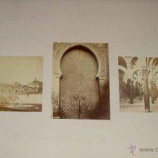 Fotografía antigua: 3 FOTOGRAFIAS ALBUMINAS DE CORDOBA J. LAURENT - MEZQUITA DE CORDOBA, CATEDRAL - CADA UNA MIDEN 13,5 . Lote 38251696