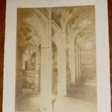 Fotografía antigua: ANTIGUA FOTOGRAFIA ALBUMINA DE SEVILLA, J. LAURENT - NUM. 1374 . VISTA DEL INTERIOR DE LA CATEDRAL D. Lote 38251839