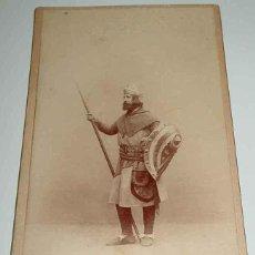 Fotografía antigua - ANTIGUA FOTOGRAFIA ALBUMINA DE CANTANTE DE OPERA GUERRERO COMPARSA EN PLUS ULTRA OBRA DE RUPERTO CH - 38255531