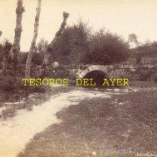 Fotografía antigua: ANTIGUA FOTOGRAFIA ALBUMINA ORIGINAL DEL FOTOGRAFO FRANCISCO ZAGALA, PONTE DOS DEMOS, POYOS, PONTEVE. Lote 38280902
