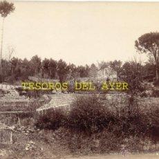 Fotografía antigua: ANTIGUA FOTOGRAFIA ALBUMINA ORIGINAL DEL FOTOGRAFO FRANCISCO ZAGALA, PAISAJE EN LA SECA N. 2, PONTEV. Lote 38280903