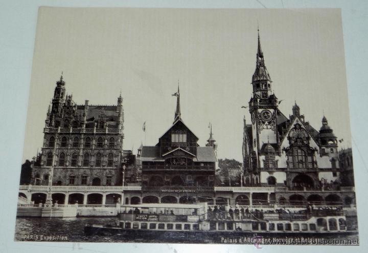ANTIGUA FOTOGRAFIA ALBUMINA DE PARIS EXPOSITION, PALAIS DE ALLEMAGNE, NORUEGE ET BELGIQUE, MIDE 26,5 (Fotografía Antigua - Albúmina)