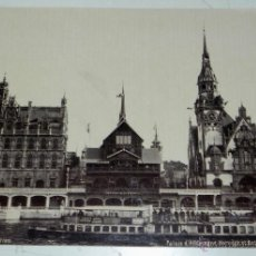 Fotografía antigua: ANTIGUA FOTOGRAFIA ALBUMINA DE PARIS EXPOSITION, PALAIS DE ALLEMAGNE, NORUEGE ET BELGIQUE, MIDE 26,5. Lote 38283530