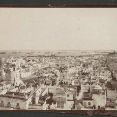 Fotografía antigua: CADIZ CA. 1880 - FOTOGRAFIA ORIGINAL - VISTA PANORAMICA - PRECIOSA Y RARA. Lote 40408311
