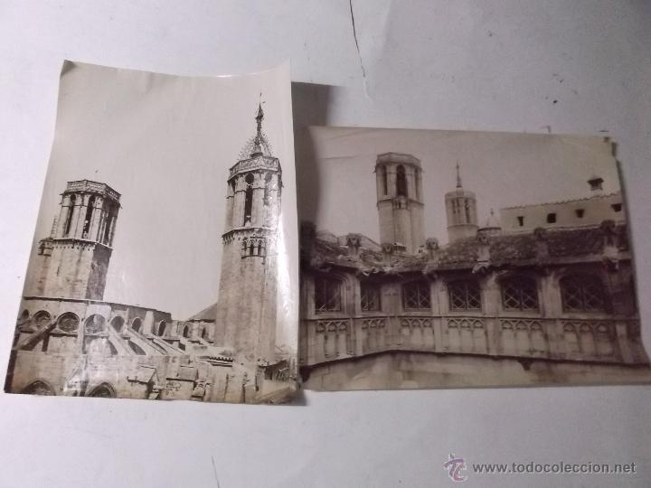 Fotografía antigua: 2 FOTOGRAFIAS, FINALES S. XIX, DE LAS TORRES DE LA CATEDRAL DE BARCELONA Y LA AUDIENCIA. ALBUMINAS. - Foto 4 - 40443636