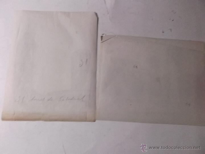 Fotografía antigua: 2 FOTOGRAFIAS, FINALES S. XIX, DE LAS TORRES DE LA CATEDRAL DE BARCELONA Y LA AUDIENCIA. ALBUMINAS. - Foto 5 - 40443636