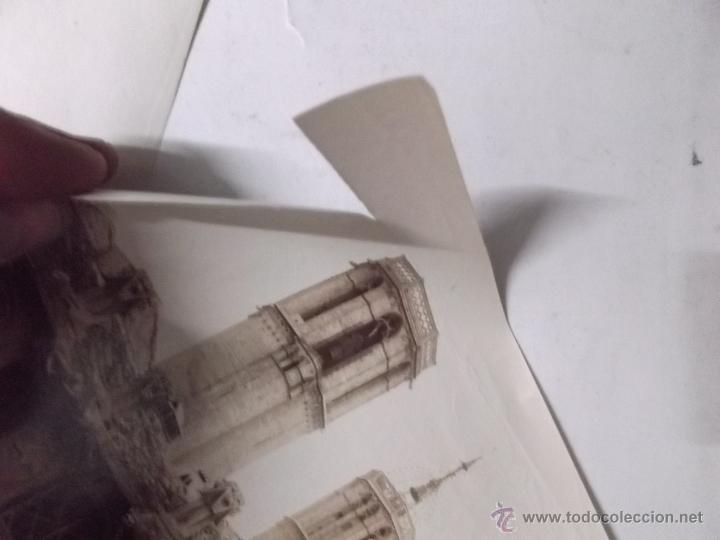 Fotografía antigua: 2 FOTOGRAFIAS, FINALES S. XIX, DE LAS TORRES DE LA CATEDRAL DE BARCELONA Y LA AUDIENCIA. ALBUMINAS. - Foto 6 - 40443636