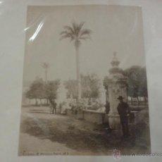 Fotografía antigua: LOTE DE 2 FOTOGRAFIAS ALBUMINAS CORDOBA. EXTERIOR DE LA MEZQUITA Y NARANJOS FUENTE.. Lote 40634367