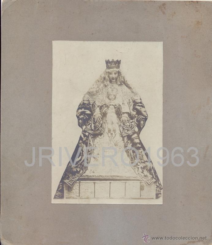 SEVILLA, SIGLO XIX, MAGNIFICA ALBUMINA DE LA VIRGEN DE LOS REYES,218X250MM (Fotografía Antigua - Albúmina)