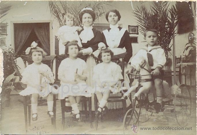 SIGLO XIX, PRECIOSA ALBUMINA, IMAGEN FAMILIAR, VER LOS DETALLES,80X56MM (Fotografía Antigua - Albúmina)