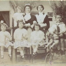 Fotografía antigua: SIGLO XIX, PRECIOSA ALBUMINA, IMAGEN FAMILIAR, VER LOS DETALLES,80X56MM. Lote 40735095