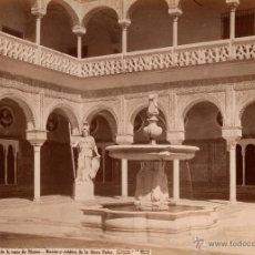 Fotografía antigua: SEVILLA. LAURENT, 1409. PATIO DE LA CASA DE PILATOS. Lote 40857306