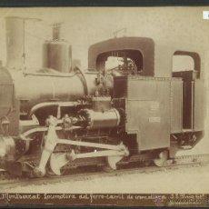 Fotografía antigua: MONTSERRAT - LOCOMOTORA DEL FERROCARRIL DE CREMALLERA - 556 -FOTOGRAFO PUIG- 17 X 21 CM. - (F-532). Lote 41259853