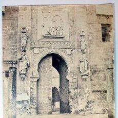 Fotografía antigua: LOTE DE DOS ALBUMINA SEVILLA CATEDRAL Y PATIO PALACIO. SELLO HUMEDO: LEYGONIE. SIGLO XIX. Lote 41315172