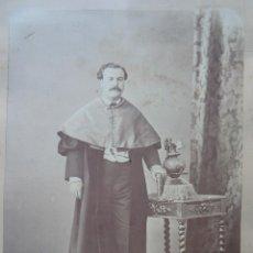 Fotografía antigua: FOTOGRAFÍA ALBÚMINA.SIGLO XIX. PERSONAJE ACADÉMICO. Lote 41473377