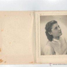 Fotografía antigua: FOTOGRAFIA ANTIGUA - FOTOGRAFIA DE SEÑORITA - . Lote 41687502