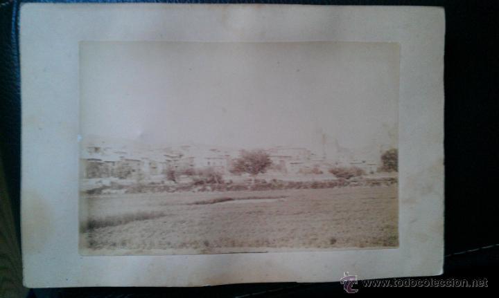 CA. 1880. FOTOGRAFÍA DE MONTALBAN TERUEL ARAGON (Fotografía Antigua - Albúmina)