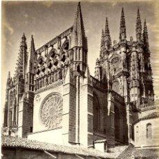 Fotografía antigua: LAURENT, 1373. BURGOS. VISTA DE LA CATEDRAL TOMADA DESDE EL CLAUSTRO. Lote 42169371