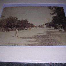 Fotografía antigua: ALBÚMINA J. LAURENT Y Cª. MADRID - 1032 - PASEO DE LA FUENTE CASTELLANA - 34X25 CM. ORIGINAL DE LA . Lote 42200073