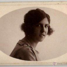 Fotografía antigua - FOTO DEDICADA CIPRIÁ CABANÉ SABADELL 1921 MARIA LLOBET A. RIFÁ - 42285477