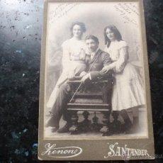 Fotografía antigua: FOTO DE ZENONE EN SANTANDER. Lote 42403491