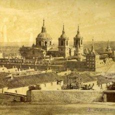 Fotografía antigua: FOTOGRAFIA EL ESCORIAL MADRID VISTA MONASTERIO DESDE LA PRESA LAURENT. Lote 42464713