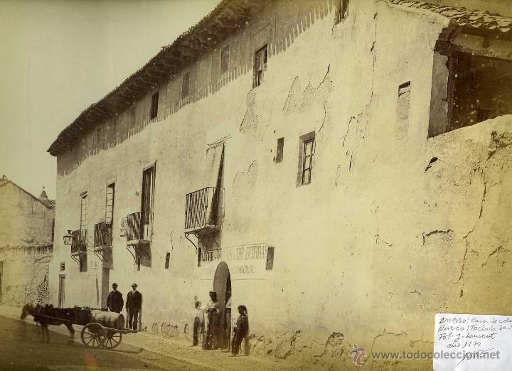 2 FOTOGRAFIAS VALLADOLID CASA DE COLON Y FACHADA DE SAN PABLO LAURENT (Fotografía Antigua - Albúmina)