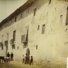 Fotografía antigua: 2 FOTOGRAFIAS VALLADOLID CASA DE COLON Y FACHADA DE SAN PABLO LAURENT. Lote 42465503