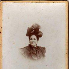 Fotografía antigua: A. PALOMARES. CÓRDOBA. FOTO 16 X 11 CTMS. AÑO 1895. EMILIA BERENGUER. Lote 42529160