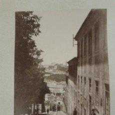 Fotografía antigua: LOTE DE 2 FOTOGRAFÍAS ALBÚMINAS LISBOA ELEVADOR DE LA GLORIA VISTA DE LA CIUDAD. PORTUGAL. Lote 42649883