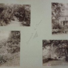 Fotografía antigua: LOTE DE 2 FOTOGRAFÍAS PORTUGAL. ALBÚMINA. CINTRA. PALACIO MONSERRATE Y PARQUE.. Lote 42663109