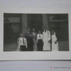 Fotografía antigua: FOTO POSTAL REUNION DE TRABAJADORES SIN FOTOGRAFO ALBUMINA-833. Lote 43095241