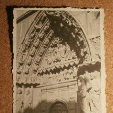 Fotografía antigua: ANTIGUA FOTOGRAFÍA - PUERTA DE LOS APÓSTOLES - BURGOS -. Lote 43191845