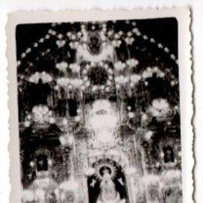 Fotografía antigua - FOTOGRAFIA ANTIGUA DE BASILICA Y VIRGEN ILUMINADAS - AÑOS 40 - 43192431