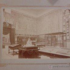 Fotografía antigua: LOTE 12 FOTOGRAFÍAS EXPOSICIÓN DE ARTE DE EUROPA 1892 MUSEO ARQUEOLÓGICO.. Lote 43246833