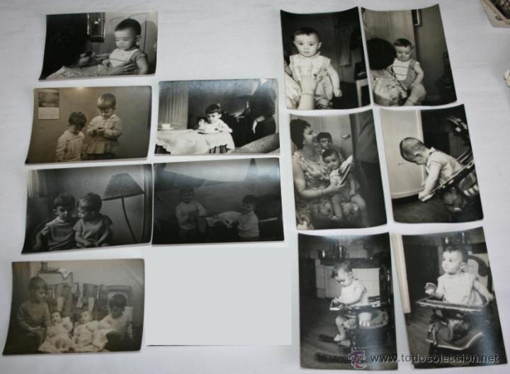 LOTE DE 12 FOTOGRAFIAS - NIÑOS HACIA 1950 (Fotografía Antigua - Albúmina)