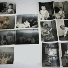 Fotografía antigua: LOTE DE 12 FOTOGRAFIAS - NIÑOS HACIA 1950. Lote 43305069