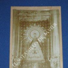 Fotografía antigua: PRECIOSA FOTOGRAFIA ANTIGUA DE ALBUMINA DE LA VIRGEN DEL PILAR . Lote 43376238
