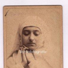 Fotografía antigua: RETRATO POR IDENTIFICAR, 1880'S. FOTO: AUDOUARD, BARCELONA. CABINET 11X16,5 CM.. Lote 43454284