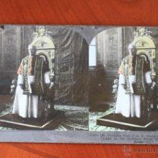 Fotografía antigua: ALBÚMINA STEREO,ESTEREO,DE PÍO X 6X12. Lote 43564614