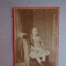 Fotografía antigua: ANTIGUA FOTOGRAFÍA ALBÚMINA EN CARTÓN . 10 CM X 6 CM . . Lote 43617076