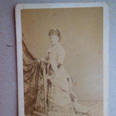 Fotografía antigua: ANTIGUA FOTOGRAFÍA ALBÚMINA EN CARTÓN . 10 CM X 6 CM . FOTÓGRAFO - R. ROIG - ( BARCELONA ).. Lote 43617116
