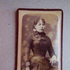 Fotografía antigua: ANTIGUA FOTOGRAFÍA ALBÚMINA EN CARTÓN . 10 CM X 6 CM . FOTÓGRAFO - ( BARCELONA ).. Lote 43617229