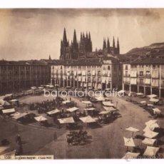 Fotografía antigua: BURGOS, LA PLAZA MAYOR, 1870'S. FOTO: LAURENT. NUM 1560. 24,7X33 CM.. Lote 43744927