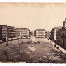 Fotografía antigua: MADRID, 41. VISTA GENERAL DE LA PUERTA DEL SOL, AÑO 1863-66. FOTO: LAURENT. 24,5X33,5CM.. Lote 43750942