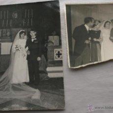 Fotografía antigua: LOTE DE 2 FOTOGRAFIAS - BODAS - IZQUIERDA AÑOS 60 Y LA DEL MILITAR AÑOS 50. Lote 43834471