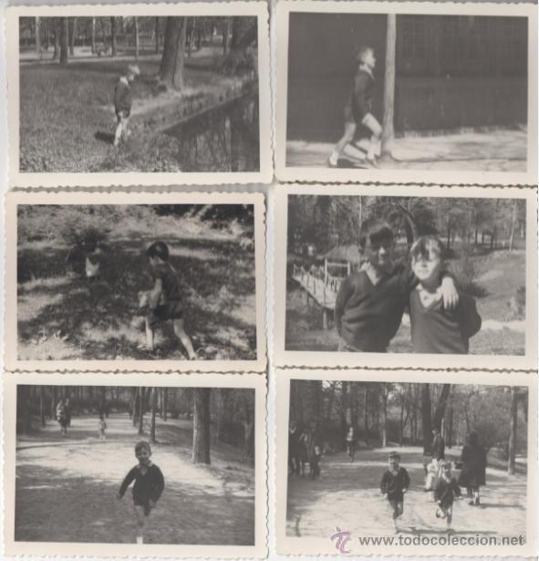 Lote De 6 Fotografias Antiguas Ninos Jugando Comprar Fotografia