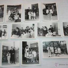 Fotografía antigua: LOTE DE 12 FOTOGRAFIAS EN PAPEL PLASTICO ESPECIAL - COMUNION, NIÑERA - HACIA 1960. Lote 43899482